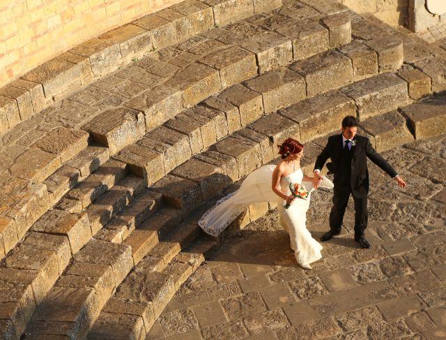 sposi per Caltagirone foto dall'alto