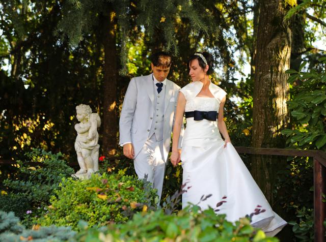 foto giardino sposi presso Trattoria Rosetta di Capergnanica.