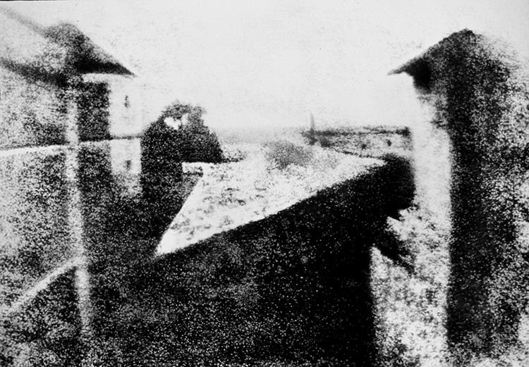 Niepce, una delle primissime foto mai ottenute