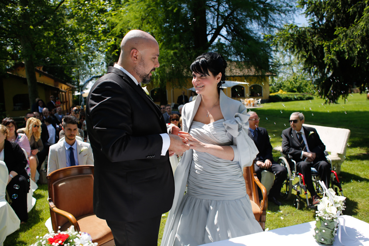 foto matrimonio all'aperto