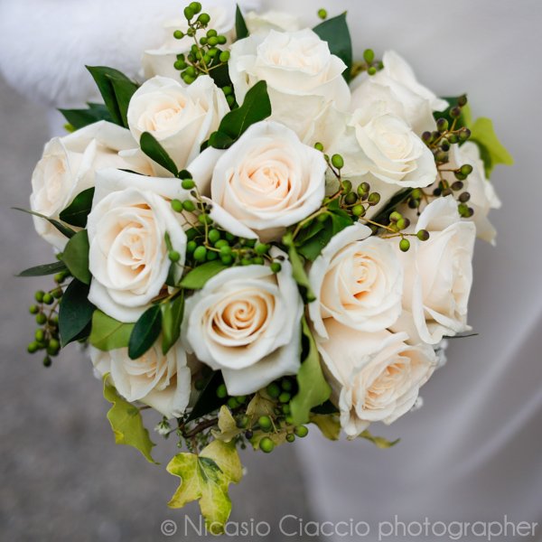 bouquet sposa rose autunnale