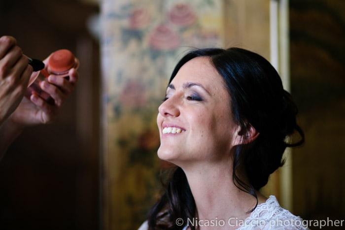 ritratto preparazione sposa