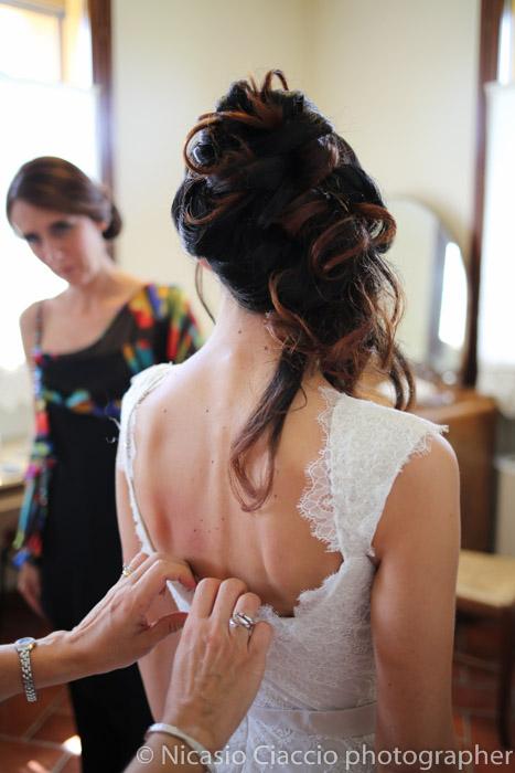 acconciatura sposa  preparazione