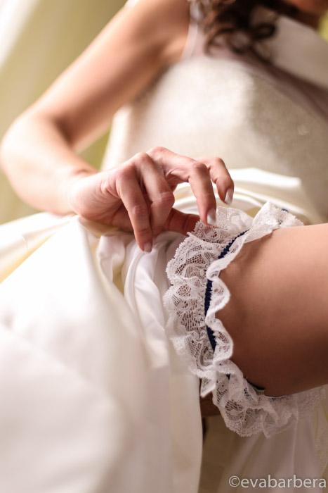 dettaglio giarrettiera sposa