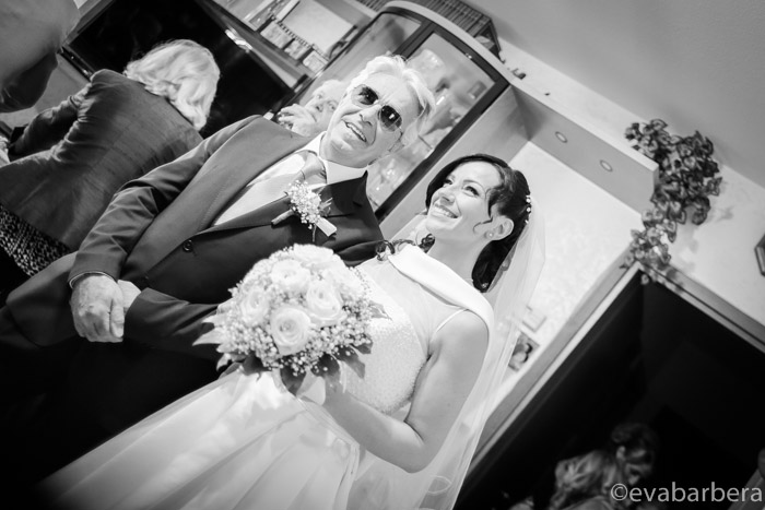 sposa esce con il padre