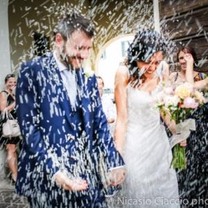 lancio del riso sposi matrimonio a Milano