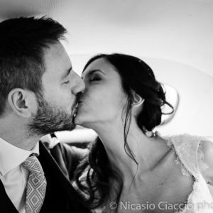 bacio sposi matrimonio a Milano