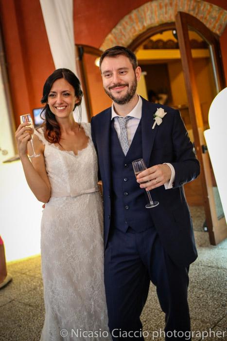 sposi durante matrimonio Golf Club San Vito a Gaggiano