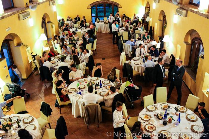 veduta dall'alto matrimonio Golf Club San Vito a Gaggiano