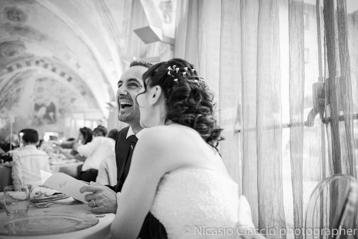 sposi durante il ricevimento