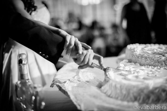 dettaglio taglio torta