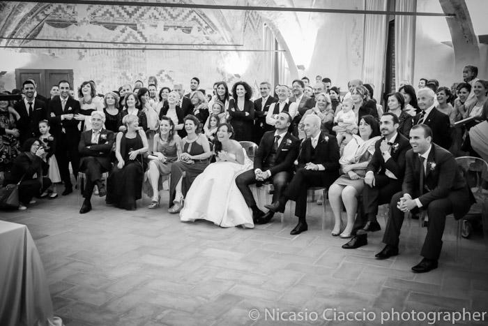 proiezione foto sposi durante matrimonio