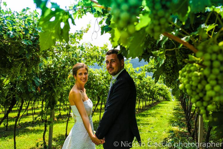 sposi tra le vigne verona
