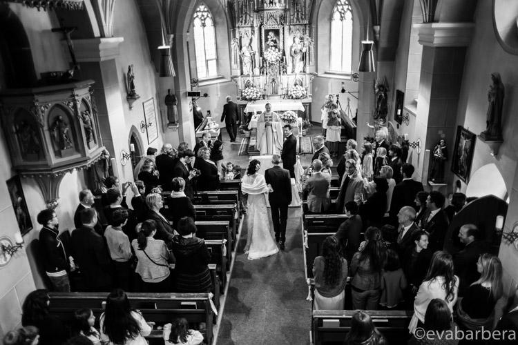 foto matrimonio Colfosco, chiesa dall'alto