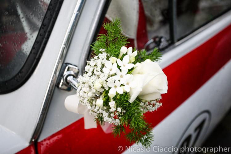 particolare fiori decorazione matrimonio trentino