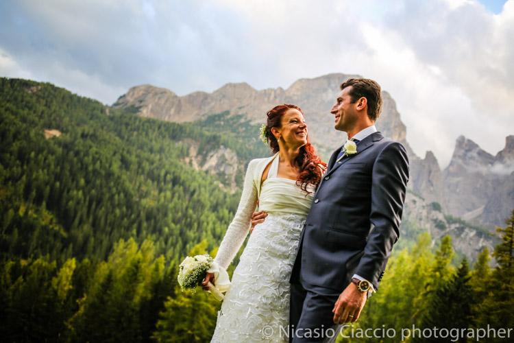 Reportage di matrimonio Alta Val Badia, trentino