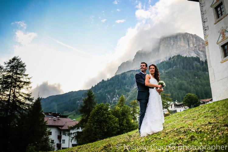 Matrimonio in trentino tra le dolomiti
