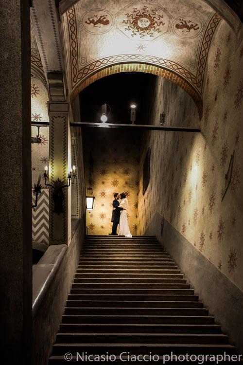 Matrimonio a Sant'Angelo Lodigiano foto dentro il castello