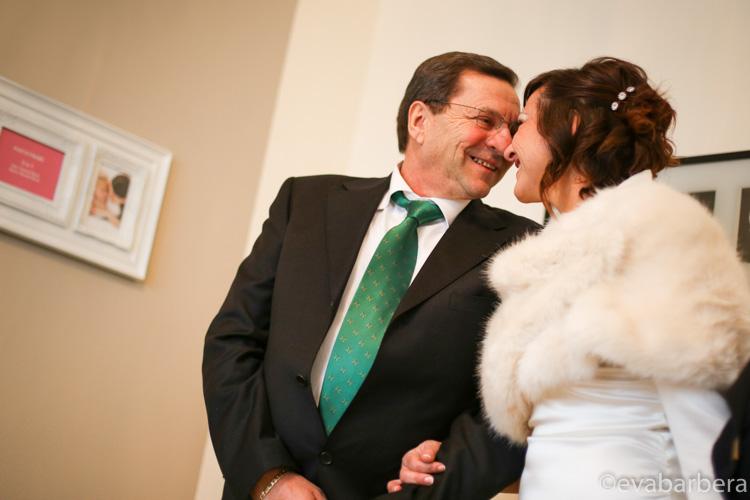 sposa con papa