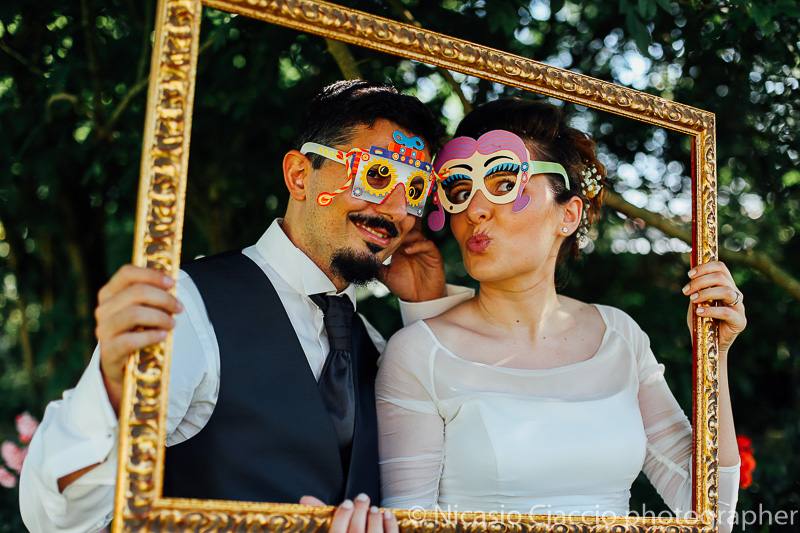 Wedding photo booth sposi