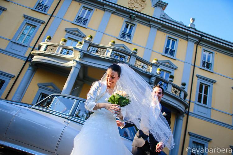 Foto Matrimonio Villa Acquaroli arrivo sposa