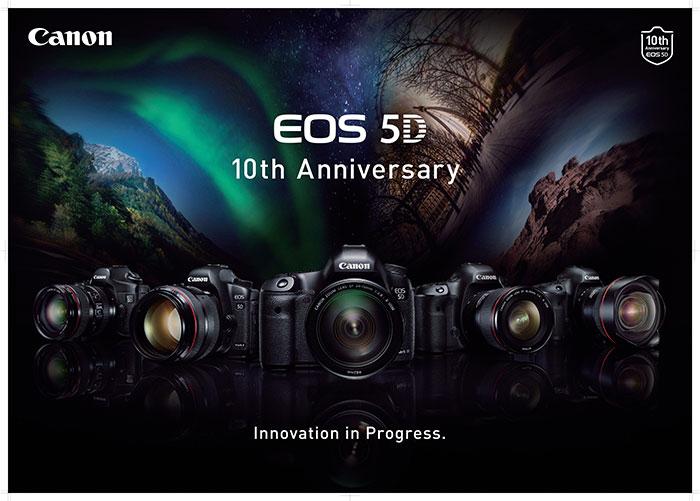 Canon festeggia i 10 anni serie Eos 5D