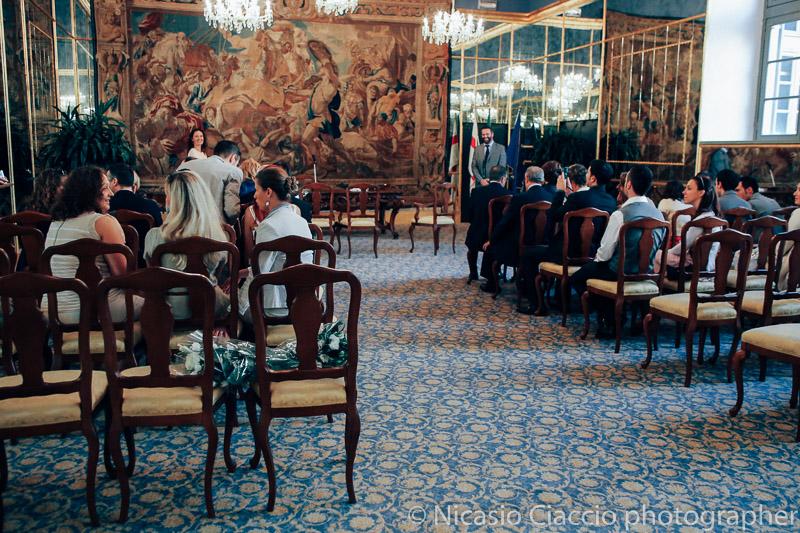 matrimonio-Milano-palazzo reale milano sala degli specchi preparata per un matrimonio