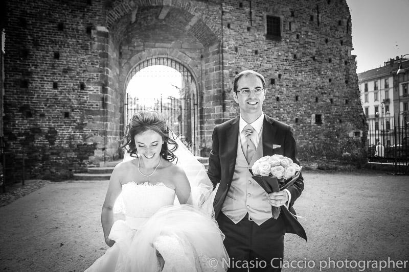 foto matrimonio-Milano-castello sforzesco