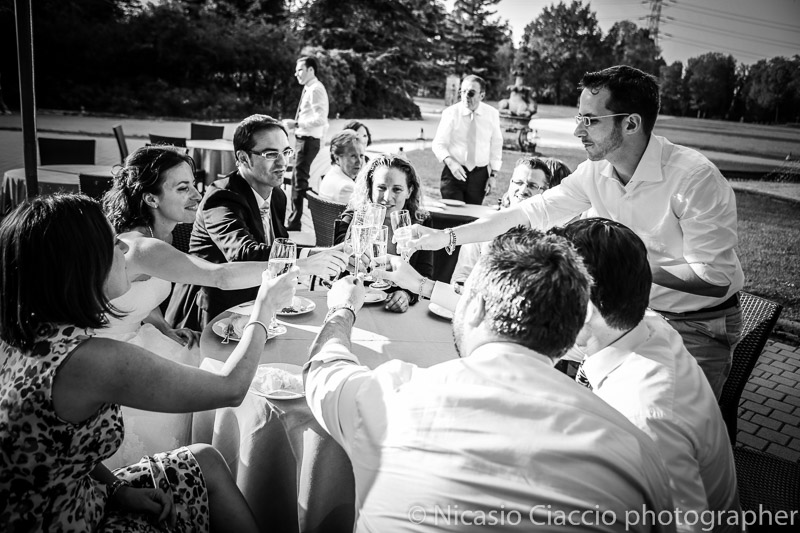 Brindisi sposi matrimonio-Milano-Villa San Carlo