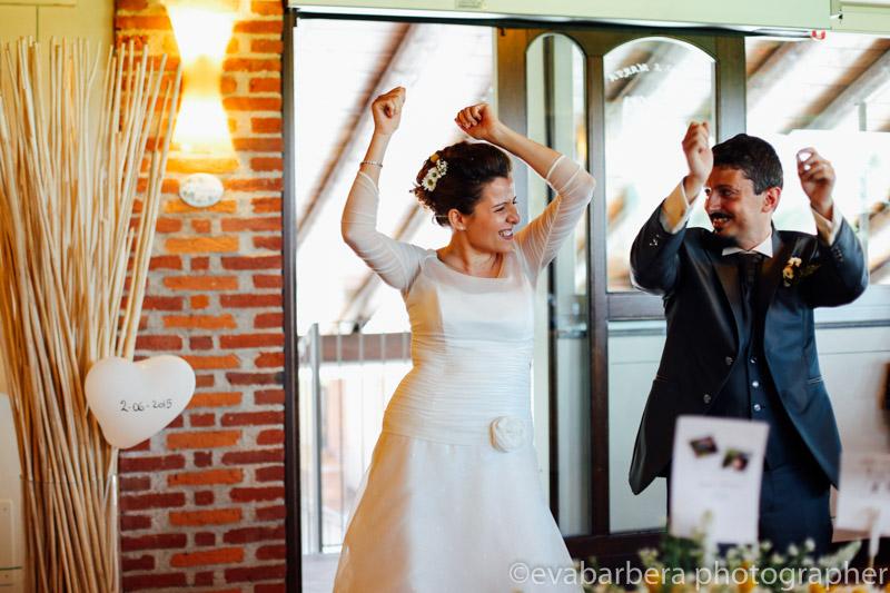 Sposi che danzano -Matrimonio Molino Santa Marta