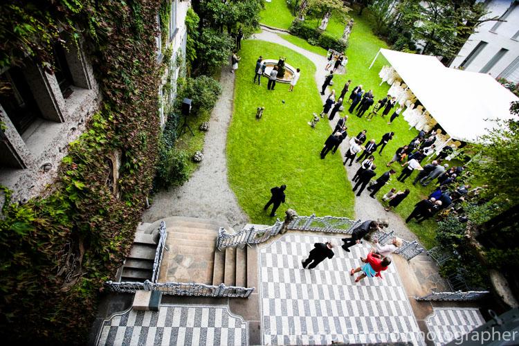 Vista dall'alto del Giardino di Casa Atellani, Milano