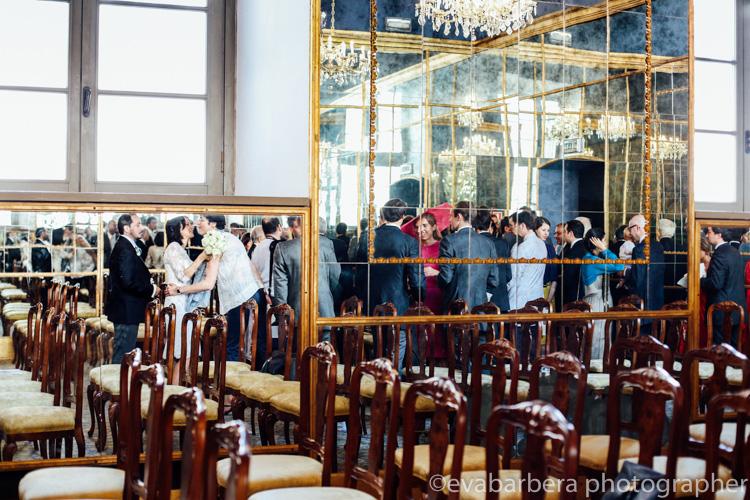 sala degli specchi milano - palazzo reale - riflessi -foto matrimonio milano officine del volo
