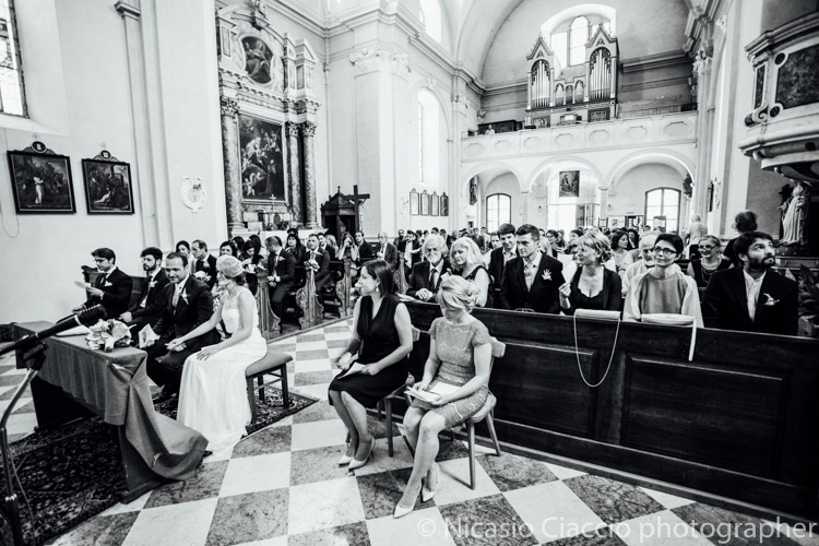 panoramica chiesa di san Geltrude dall'interno - fotografo trentino