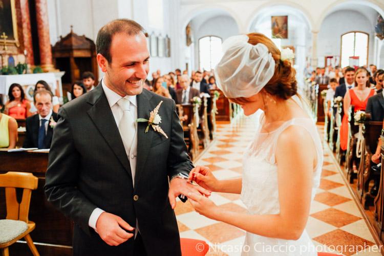 Scambio degli anelli - matrimonio trentino