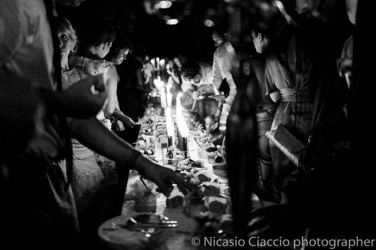 buffet di dolci matrimonio al lume di candela
