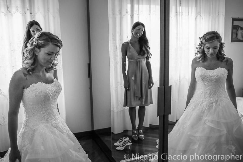 riflesso sposa con abito