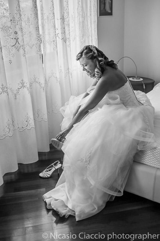 sposa seduta