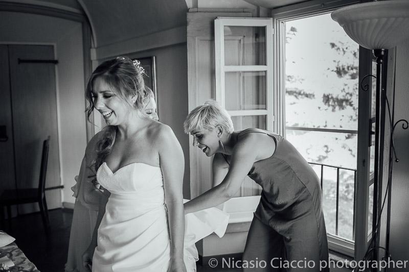 Preparazione sposa presso tenuta pegazzera