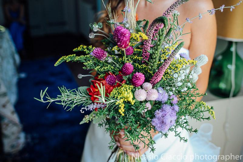 Dettaglio bouquet sposa
