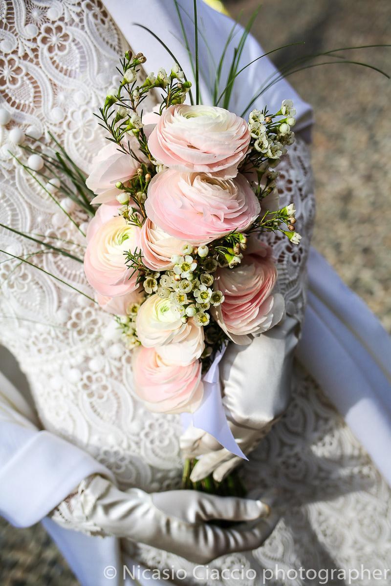 Bouquet Sposa ranucoli rosa