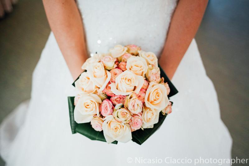 Bouquet Sposa Rose rosa varie tonalità