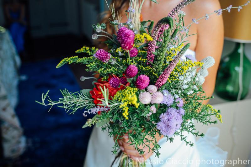 Bouquet Sposa con fiori di campo