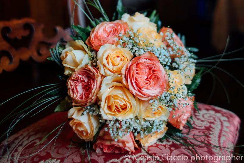 bouquet rose gialle e rosa - Bouquet Sposa