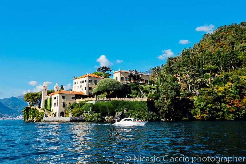 Fotografo Matrimonio Lago di Como - vista dal lago