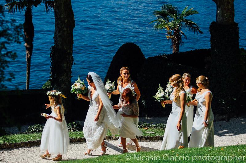 Foto arrivo sposa Matrimonio Lago di Como (6)