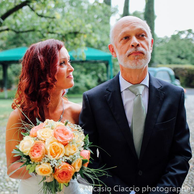 ritratto sposa e padre