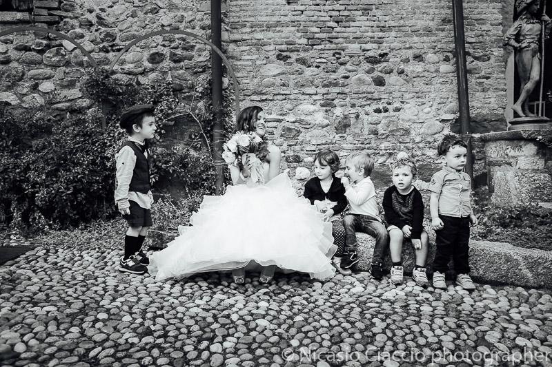 sposa con i bambini