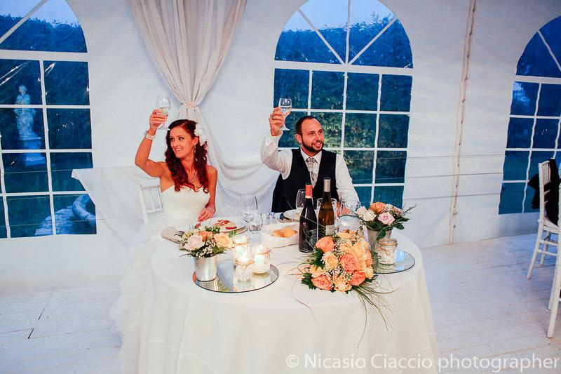 Brindisi iniziale matrimonio al castello di cernusco lombardone