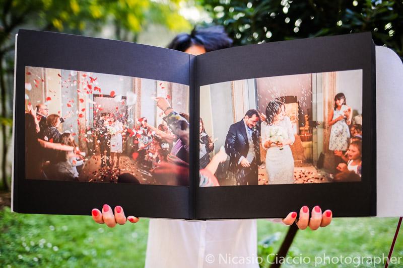Album foto matrimonio pagine nere