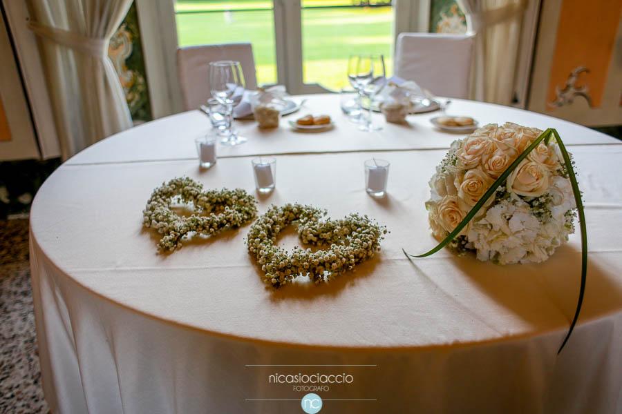 Matrimonio a villa Orsini Colonna, tavolo sposi